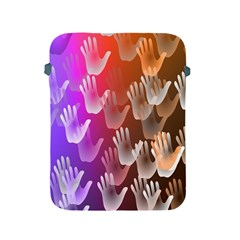 Clipart Hands Background Pattern Apple Ipad 2/3/4 Protective Soft Cases