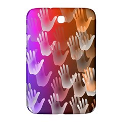 Clipart Hands Background Pattern Samsung Galaxy Note 8.0 N5100 Hardshell Case