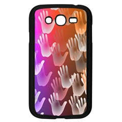 Clipart Hands Background Pattern Samsung Galaxy Grand DUOS I9082 Case (Black)