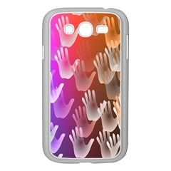 Clipart Hands Background Pattern Samsung Galaxy Grand Duos I9082 Case (white)