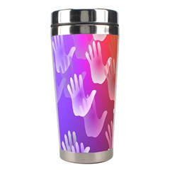 Clipart Hands Background Pattern Stainless Steel Travel Tumblers