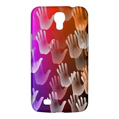 Clipart Hands Background Pattern Samsung Galaxy Mega 6.3  I9200 Hardshell Case