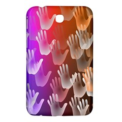 Clipart Hands Background Pattern Samsung Galaxy Tab 3 (7 ) P3200 Hardshell Case