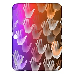 Clipart Hands Background Pattern Samsung Galaxy Tab 3 (10.1 ) P5200 Hardshell Case