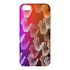 Clipart Hands Background Pattern Apple iPhone 5C Hardshell Case