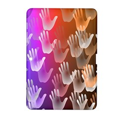 Clipart Hands Background Pattern Samsung Galaxy Tab 2 (10.1 ) P5100 Hardshell Case