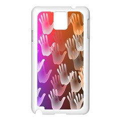 Clipart Hands Background Pattern Samsung Galaxy Note 3 N9005 Case (white)