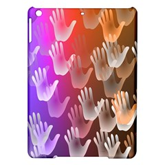 Clipart Hands Background Pattern iPad Air Hardshell Cases