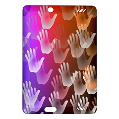 Clipart Hands Background Pattern Amazon Kindle Fire Hd (2013) Hardshell Case