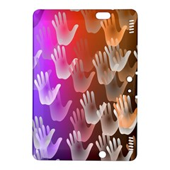 Clipart Hands Background Pattern Kindle Fire Hdx 8 9  Hardshell Case