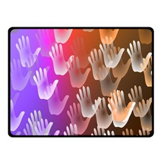 Clipart Hands Background Pattern Double Sided Fleece Blanket (small)