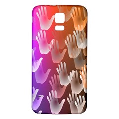 Clipart Hands Background Pattern Samsung Galaxy S5 Back Case (White)