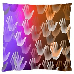 Clipart Hands Background Pattern Standard Flano Cushion Case (two Sides)