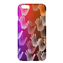 Clipart Hands Background Pattern Apple Iphone 6 Plus/6s Plus Hardshell Case