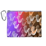 Clipart Hands Background Pattern Canvas Cosmetic Bag (XL) Front