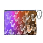 Clipart Hands Background Pattern Canvas Cosmetic Bag (XL) Back