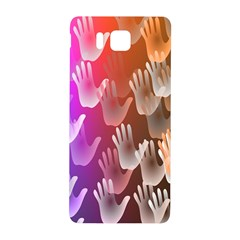 Clipart Hands Background Pattern Samsung Galaxy Alpha Hardshell Back Case