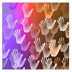 Clipart Hands Background Pattern Large Satin Scarf (square)