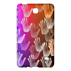 Clipart Hands Background Pattern Samsung Galaxy Tab 4 (7 ) Hardshell Case