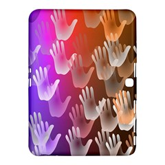 Clipart Hands Background Pattern Samsung Galaxy Tab 4 (10 1 ) Hardshell Case