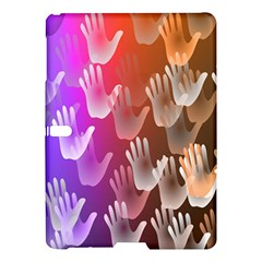 Clipart Hands Background Pattern Samsung Galaxy Tab S (10.5 ) Hardshell Case