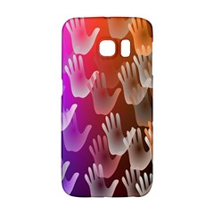 Clipart Hands Background Pattern Galaxy S6 Edge