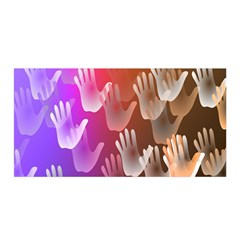 Clipart Hands Background Pattern Satin Wrap
