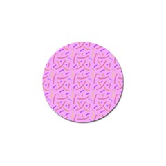 Confetti Background Pattern Pink Purple Yellow On Pink Background Golf Ball Marker (4 pack)