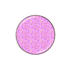 Confetti Background Pattern Pink Purple Yellow On Pink Background Hat Clip Ball Marker