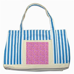 Confetti Background Pattern Pink Purple Yellow On Pink Background Striped Blue Tote Bag