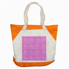 Confetti Background Pattern Pink Purple Yellow On Pink Background Accent Tote Bag