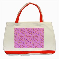 Confetti Background Pattern Pink Purple Yellow On Pink Background Classic Tote Bag (Red)