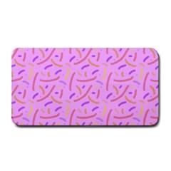 Confetti Background Pattern Pink Purple Yellow On Pink Background Medium Bar Mats