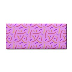 Confetti Background Pattern Pink Purple Yellow On Pink Background Cosmetic Storage Cases