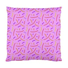 Confetti Background Pattern Pink Purple Yellow On Pink Background Standard Cushion Case (Two Sides)