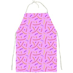 Confetti Background Pattern Pink Purple Yellow On Pink Background Full Print Aprons