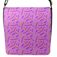 Confetti Background Pattern Pink Purple Yellow On Pink Background Flap Messenger Bag (S)