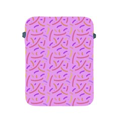 Confetti Background Pattern Pink Purple Yellow On Pink Background Apple Ipad 2/3/4 Protective Soft Cases