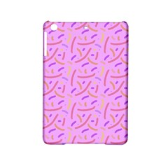 Confetti Background Pattern Pink Purple Yellow On Pink Background iPad Mini 2 Hardshell Cases
