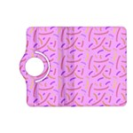 Confetti Background Pattern Pink Purple Yellow On Pink Background Kindle Fire HD (2013) Flip 360 Case Front