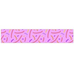 Confetti Background Pattern Pink Purple Yellow On Pink Background Flano Scarf (Large)