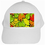 Digitally Created Funky Fruit Wallpaper White Cap Front