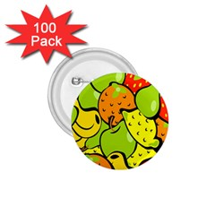 Digitally Created Funky Fruit Wallpaper 1.75  Buttons (100 pack)