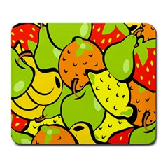 Digitally Created Funky Fruit Wallpaper Large Mousepads