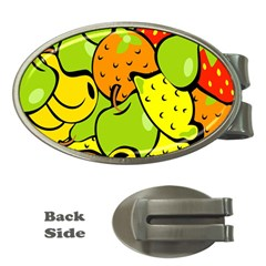 Digitally Created Funky Fruit Wallpaper Money Clips (Oval)