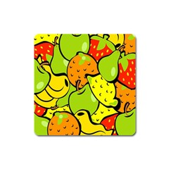 Digitally Created Funky Fruit Wallpaper Square Magnet