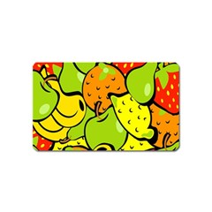 Digitally Created Funky Fruit Wallpaper Magnet (name Card)