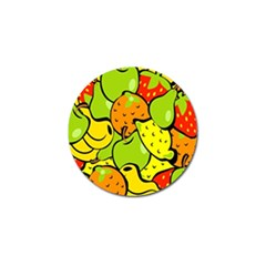 Digitally Created Funky Fruit Wallpaper Golf Ball Marker