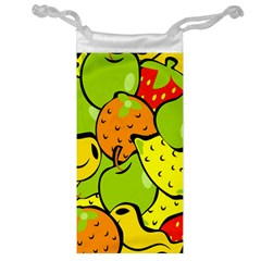 Digitally Created Funky Fruit Wallpaper Jewelry Bag
