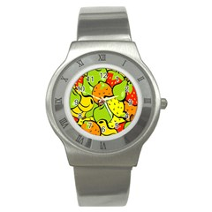 Digitally Created Funky Fruit Wallpaper Stainless Steel Watch